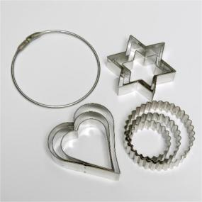 8405 9 Pce (3x3 sets) on Wire Ring (heart star round)